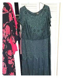Mother of the Bride Dark Green sequin dress